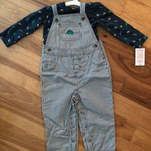 Baby Boy Overalls and Shirt set 18 months